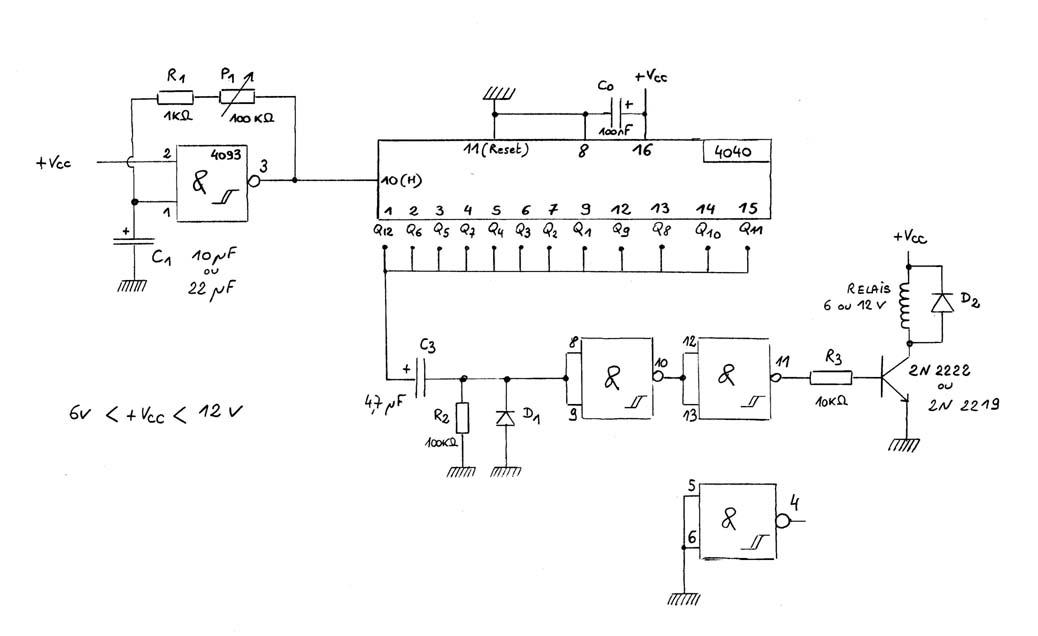Automatiser d clenchement prise de vue automatique for Porte logique non et